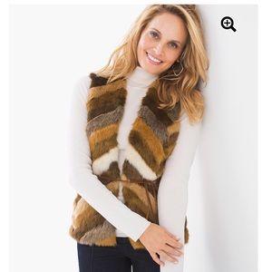 Chico's Faux Fur Roxie Vest